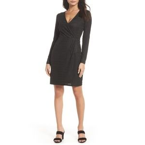 French Connection | LinearJacquard Faux Wrap Dress